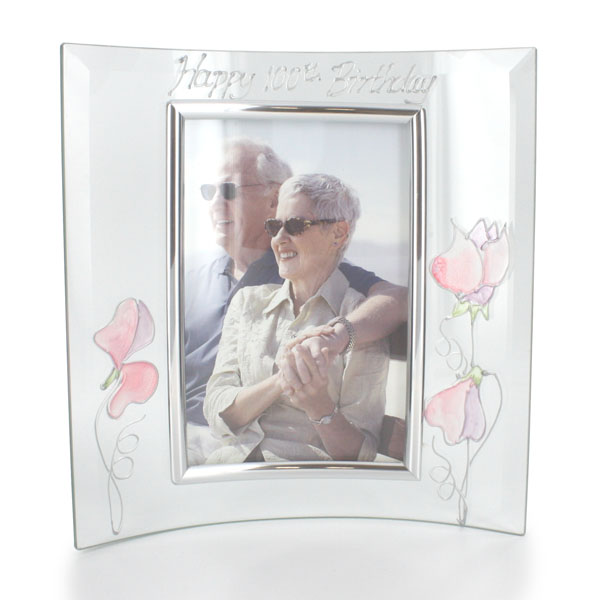100th Birthday Sweetpea Photo Frame
