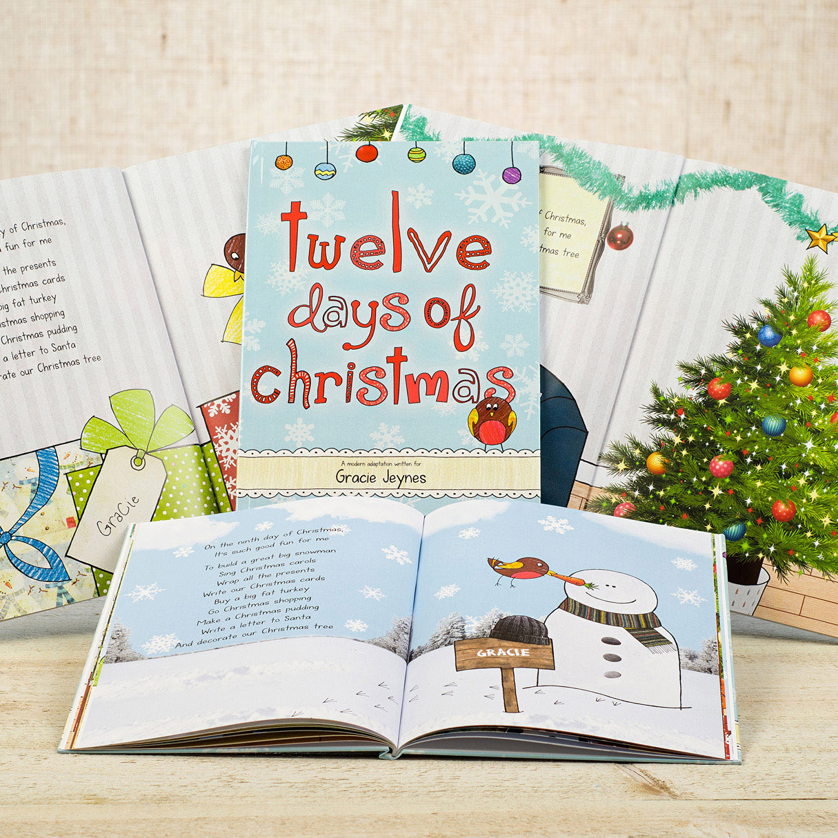 12 Days Of Christmas Personalised Book Softback