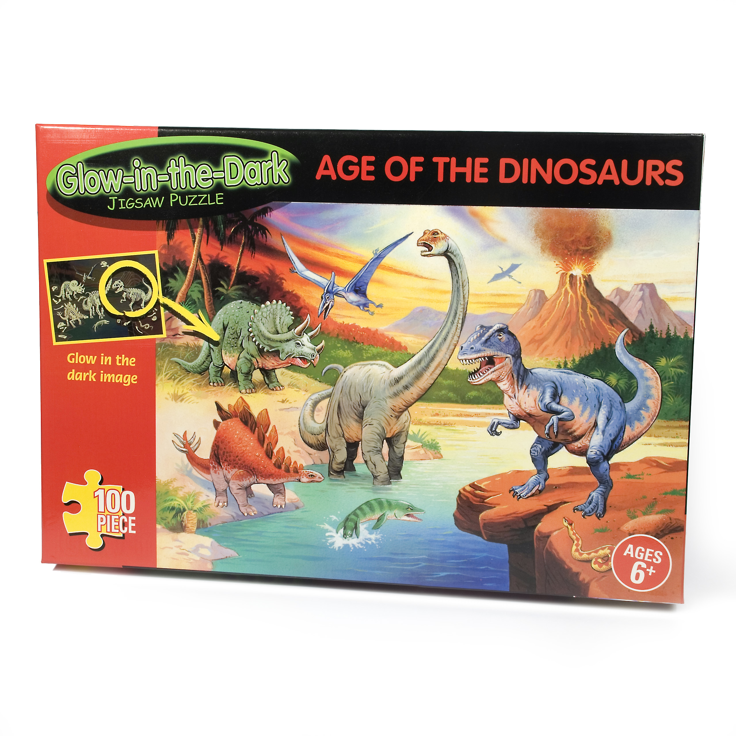 Age of Dinosaurs Glow In The Dark 100pc Jigsaw Puzzle - Jigsaw Puzzle Gifts