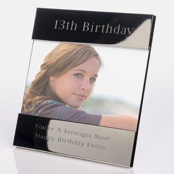 Engraved 13th Birthday Photo Frame