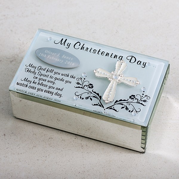 Personalised My Christening Day Trinket Box - Christening Gifts