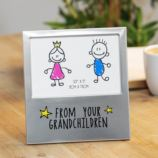 "5"" x 3.5"" - Aluminium Photo Frame - From Your Grandchildren"