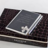 Personalised Notebook And Pen Set With Crystal Cross