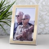 Personalised Gold Effect 6x4 Photo Frame