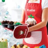 Personalised Christmas Pudding Apron
