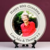 Personalised 80th Birthday Photo Plate