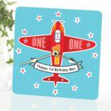 Personalised Childrens Aeroplane Clock