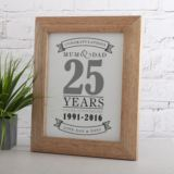 Personalised Silver Anniversary Print