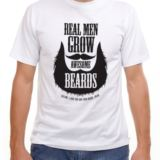 Personalised Real Men Grow Awesome Beards T-Shirt
