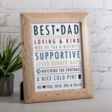 Personalised Father's Day Framed Print