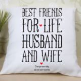 Personalised Best Friends for Life Husband and Wife Cushion