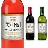 Best Man Personalised Wine