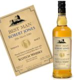Personalised Best Man Malt Whisky