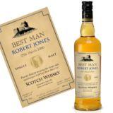 Personalised Best Man Malt Whisky