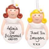 Bridesmaid Personalised Hanging Ornament