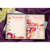 Butterfly & Flowers Personalised Thank You Stationery