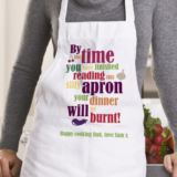 Your Dinner Will Be Burnt Personalised Apron