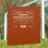 Personalised Cardiff City Football Book Embossed