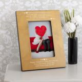 Personalised Catch Your Heart Wooden Photo Frame