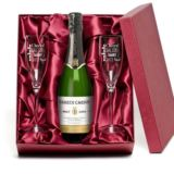 Cava and Personalised Glasses Gift Set