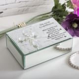 On Your Communion Glass Trinket Box