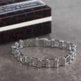 Stainless Steel Bike Chain Bracelet in Personalised Gift Box