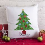 Christmas Family Tree Personalised Cushion