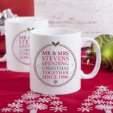 Personalised Spending Christmas Together Mugs