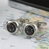 Personalised Working Compass Cufflinks