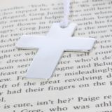 Engraved Silver Plated Cross Bookmark