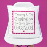 Personalised Cuddling Mummy Cushion