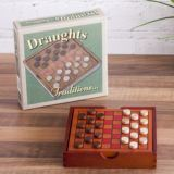 Traditional Wooden Draughts Set