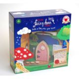 Pink Arched Wooden Fairy Door