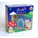 Blue Arched Wooden Fairy Door
