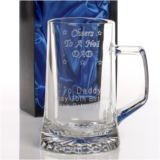 Dad's No. 1 Crystal Pint Tankard