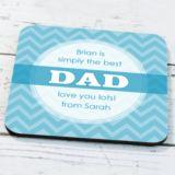 Personalised Dad Coaster