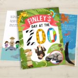 Personalised My Day at the Zoo Book Hardback