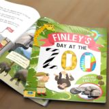 Personalised My Day at the Zoo Book Softback