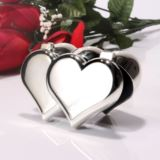 Double Heart Personalised Trinket Box