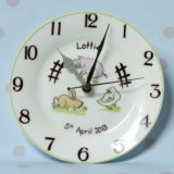 Down On The Farm Personalised Clock