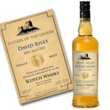 Personalised Father of Groom/Bride Malt Whisky
