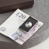 Engraved Football Money Clip in Personalised Gift Box
