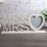 Mr & Mrs Large Heart Photo Frame