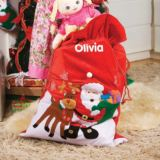 Personalised Santa and Reindeer Giant Sack