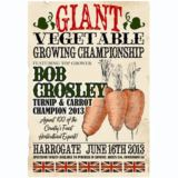 Giant Vegetable Growing Champion - Personalised Vintage Print