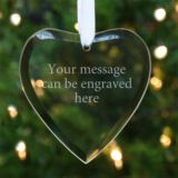 Personalised Hanging Glass Heart