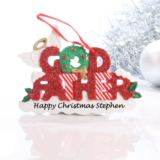 Personalised Godfather Hanging Ornament