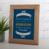 Personalised Graduation Framed Print