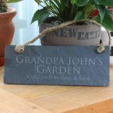 Personalised Grandad's Garden Slate Plaque