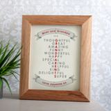 Personalised Grandparent Framed Print